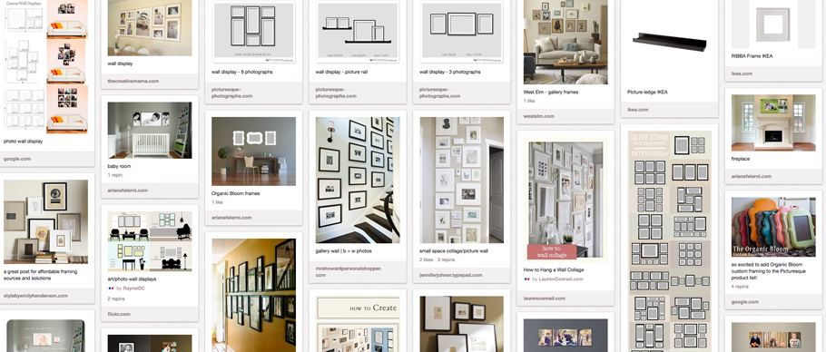 photo wall display ideas & inspiration