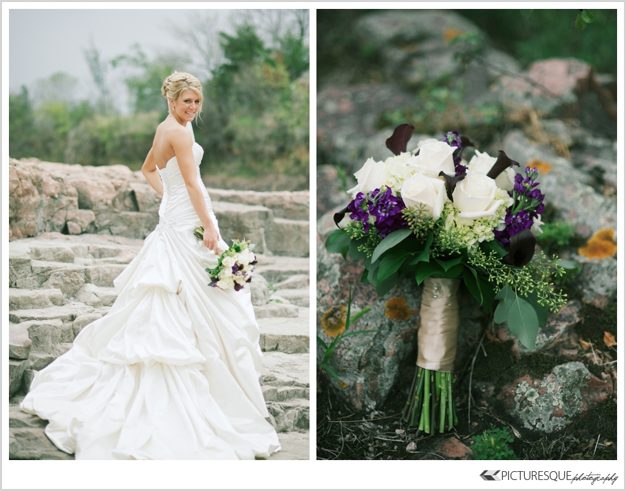 South Dakota wedding photographer Lauren Neff of Picturesque photographs modern Sioux Falls wedding
