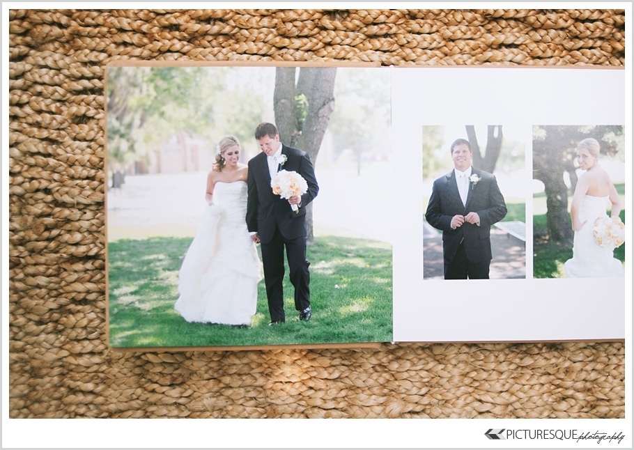 Picturesque photography of Sioux Falls shows off the new hand crafted wedding albums