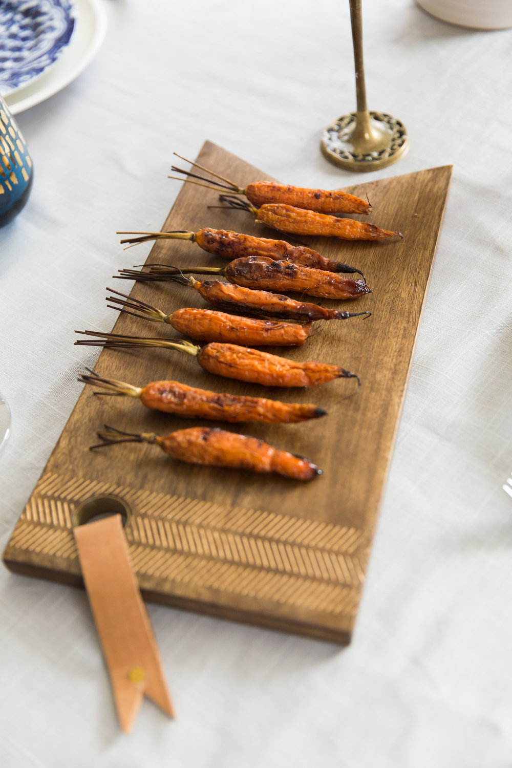 Plated Roasted Carrots