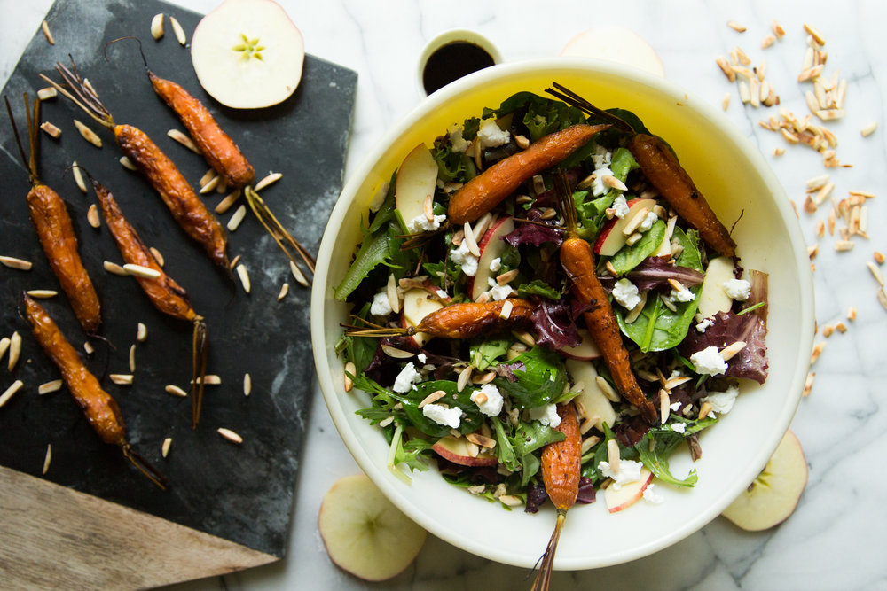 Fall Salad With Roasted Carrots