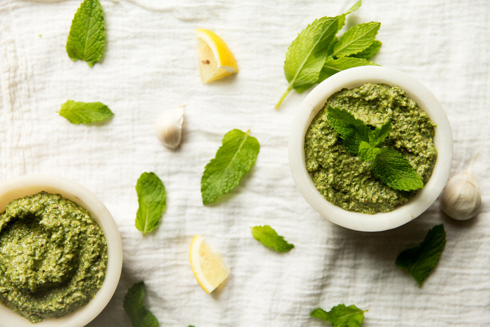 Make Your Own Pesto - Save money and get rid of all that extra mint, basil or spinach you have lying around.