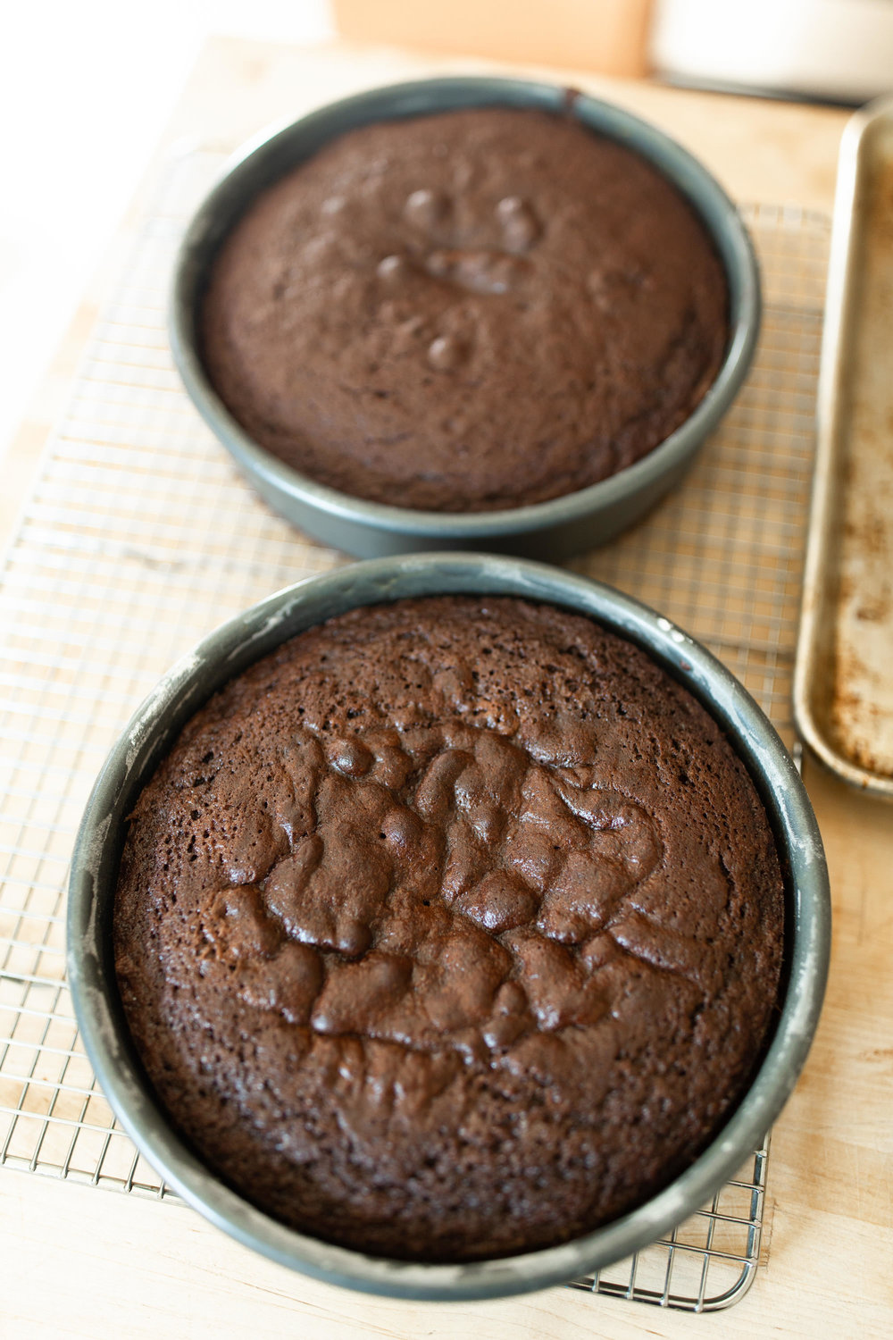 Chocolate Cakes Coming Out Of The Oven
