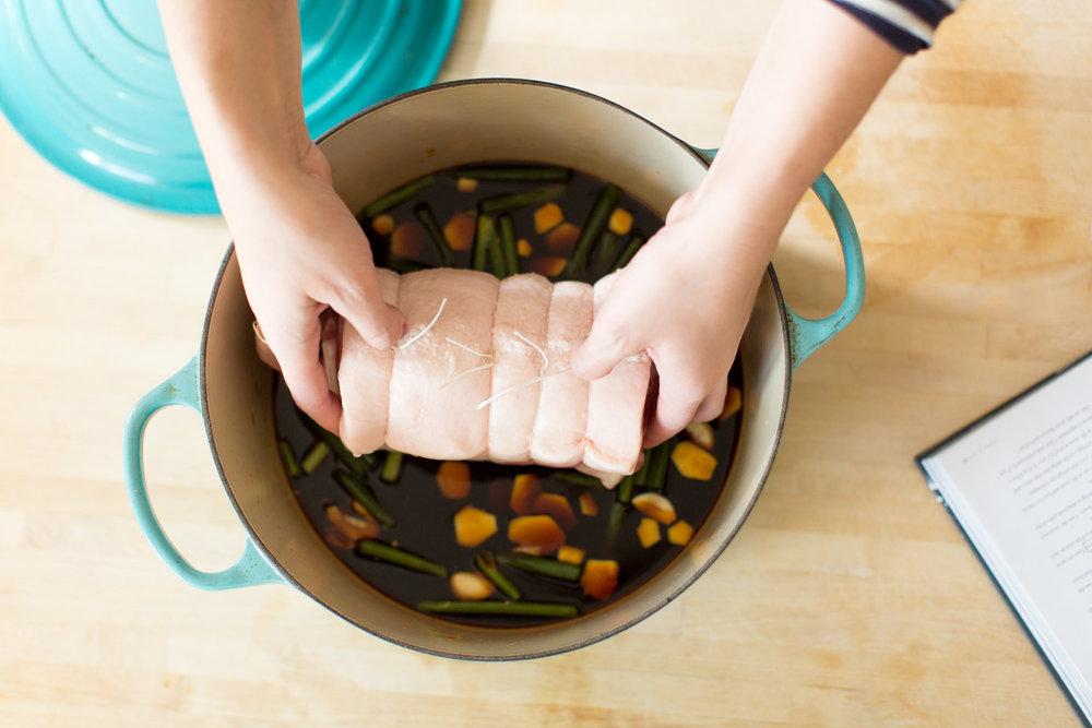 Making Homemade Chasu Pork