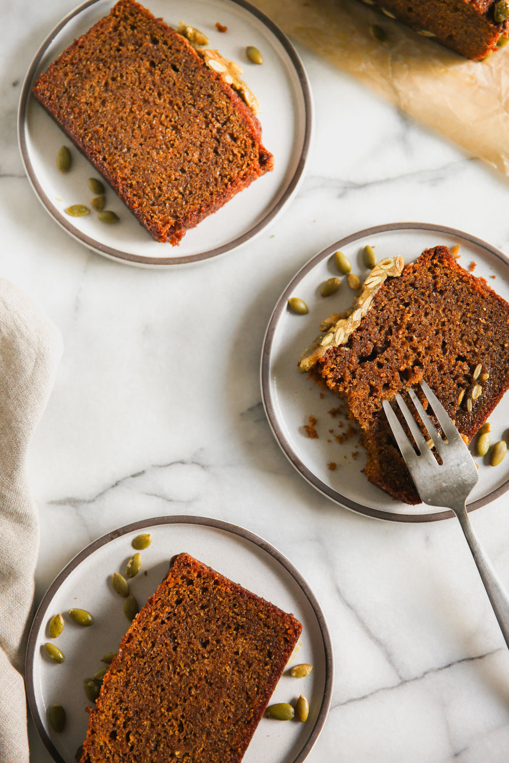 Serving Tartine Pumpkin Tea Cake