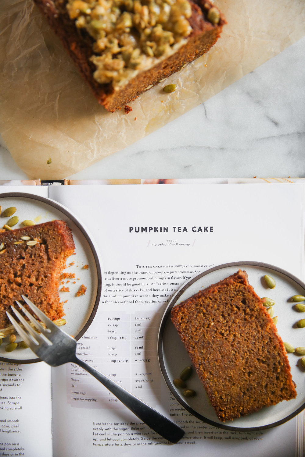 Tartine's Pumpkin Tea Cake Recipe