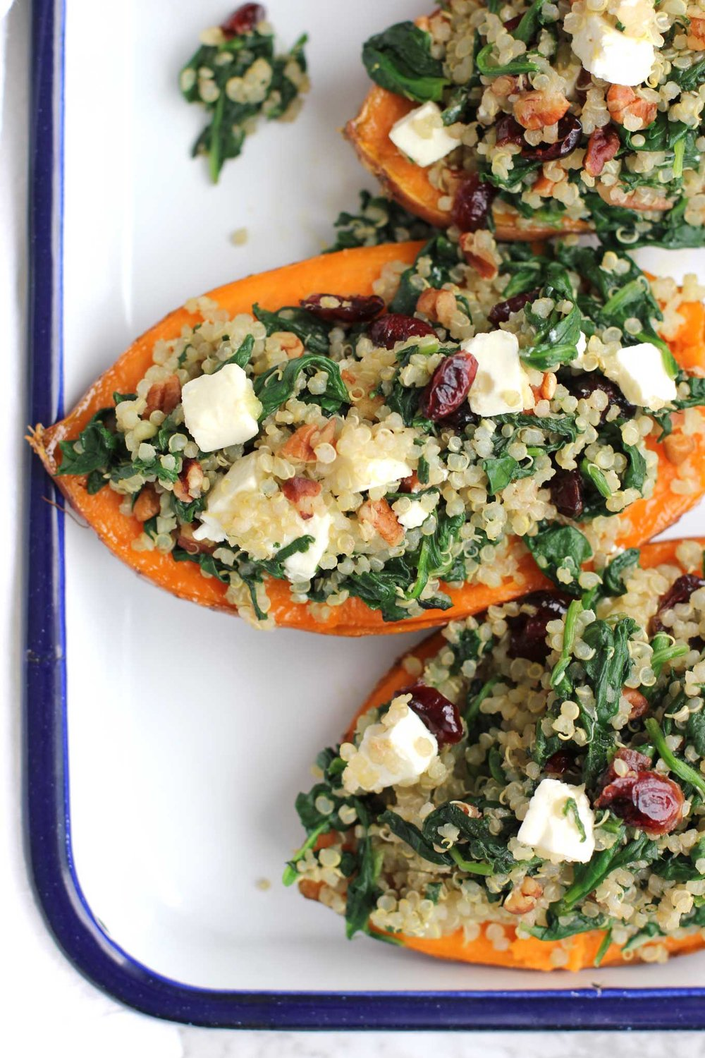 Quinoa-Stuffed Sweet Potato Recipe - This recipe is a meal in and of itself to get your eating back on the right track.