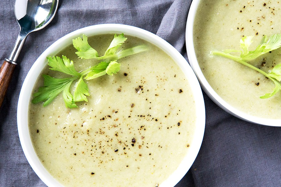 Cream Of Celery Soup - You would never know this recipe is dairy free.