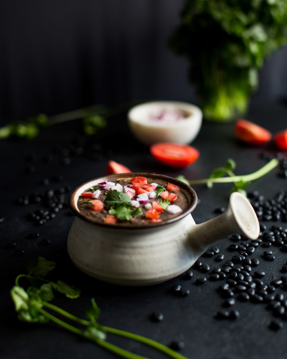 Instant Pot Black bean Soup - Not only can this be made in a fraction of the time as normal black bean soup, it's also a no-waste recipe.