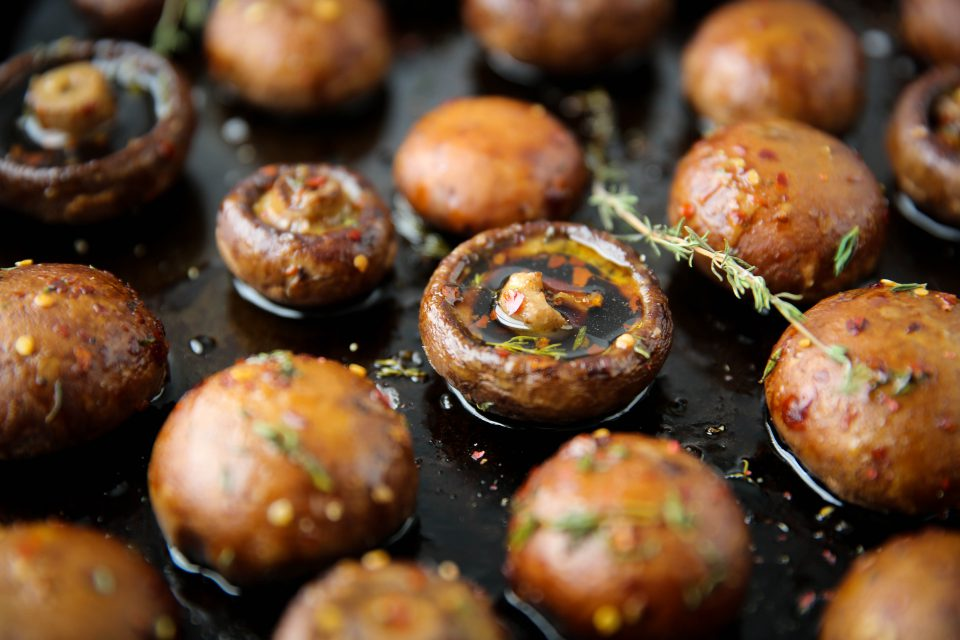 Perfect Roasted Mushrooms - I could eat these all day.