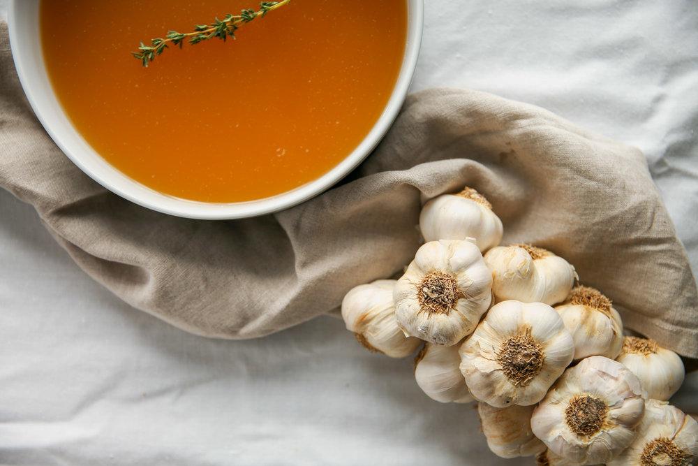 Using Whole Garlic In Chicken Stock