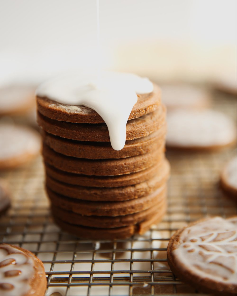 Icing Homemade Gingerbread Cookies