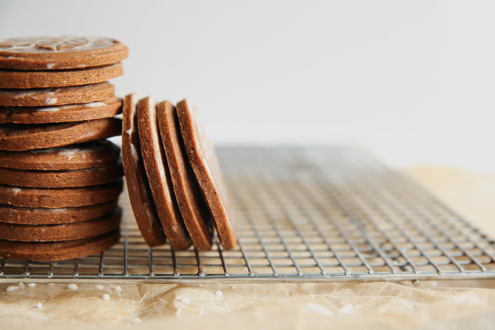 Stacked Gingerbread Cookies