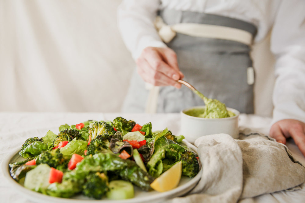 Salad With Red Leaf Lettuce