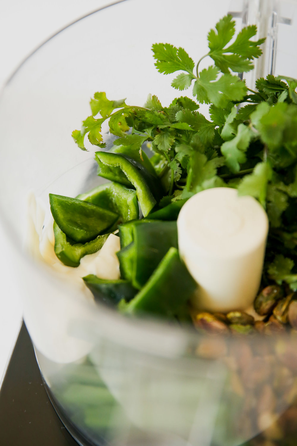 Jalepeno lending spice to green goddess dressing