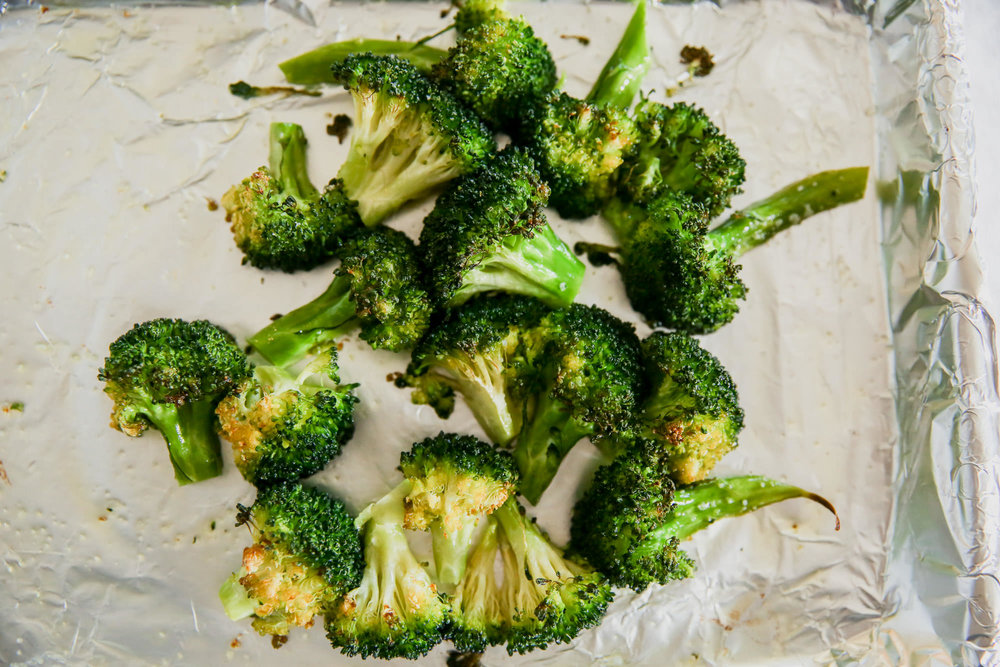 Roasted Broccoli On A Sheet Pan