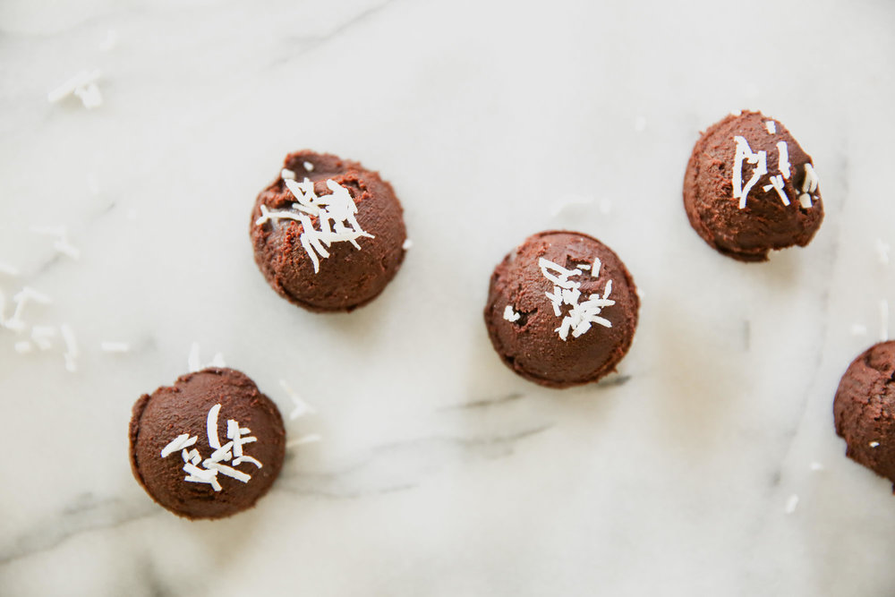 Truffles With Coconut On Top