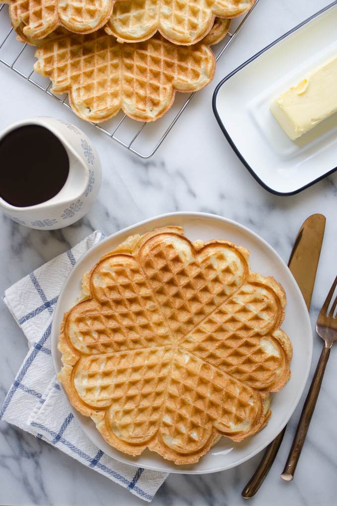 Sourdough Waffles - These waffles are light, fluffy and incredibly satisfying. With a little overnight prep, you'll be ready for the best pancakes you've ever had in the morning.