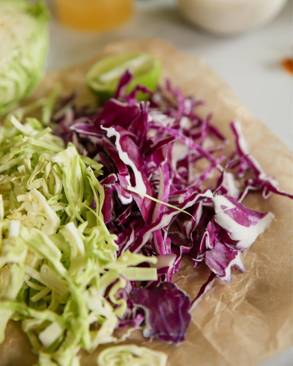 Chopping Fresh Cabbage