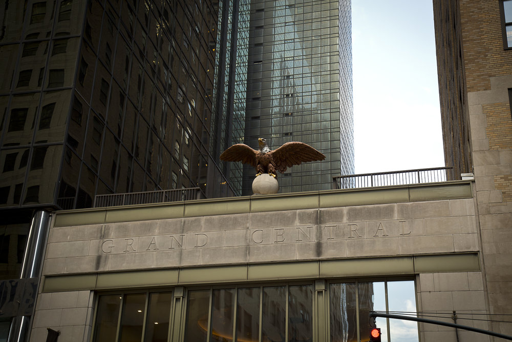 One of the original Grand Central Eagles, which has returned to the station.  Photo: Dawn Kriss