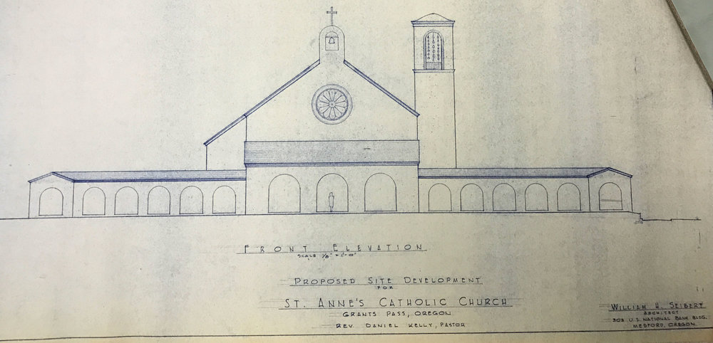 Conceptual Elevation Rendering of St. Anne, July 31, 1956