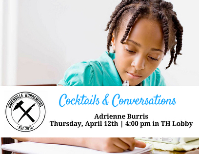 Continuing our monthly tradition of Cocktails & Conversations featuring the creative work being led by our member @gvlwordsmiths | Members be sure to stop by!