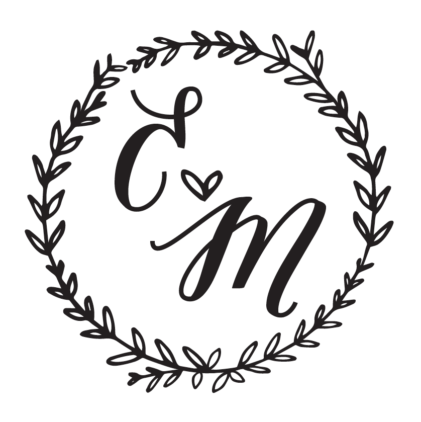 The logo for Emily and Matt's wedding