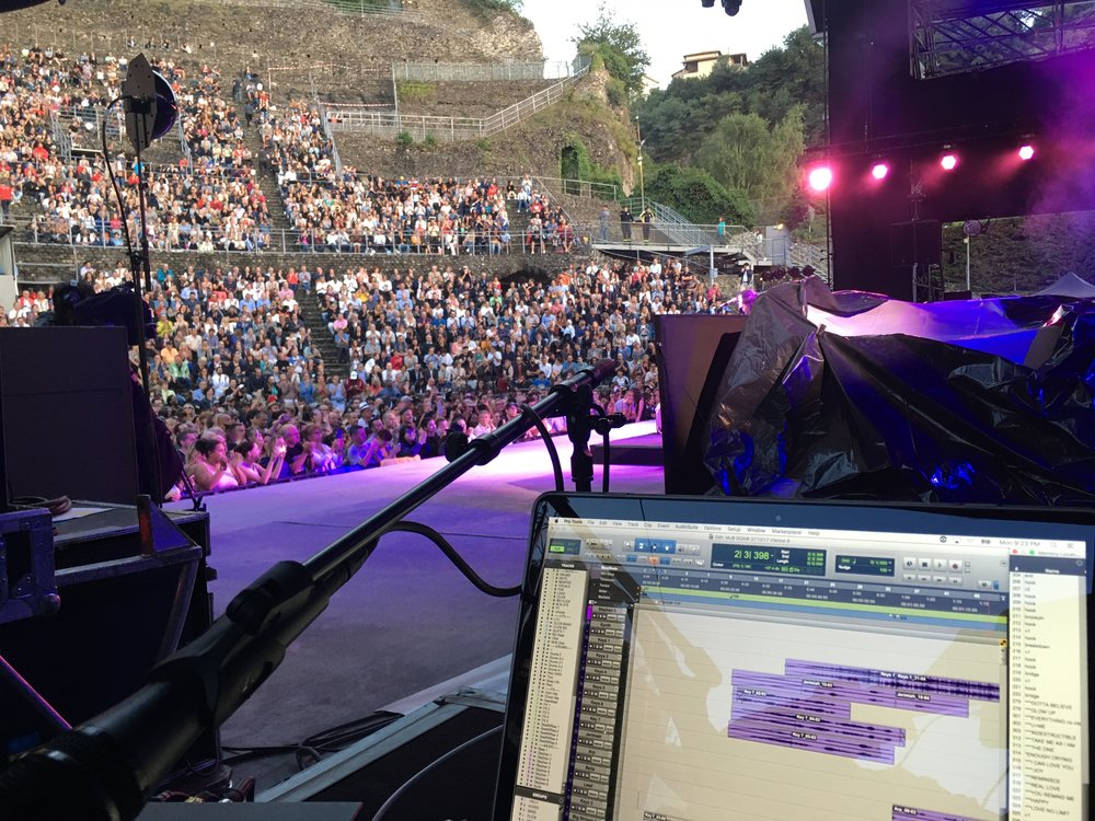 Playback for Mary J Blige at the ancient theater in Vienna, France
