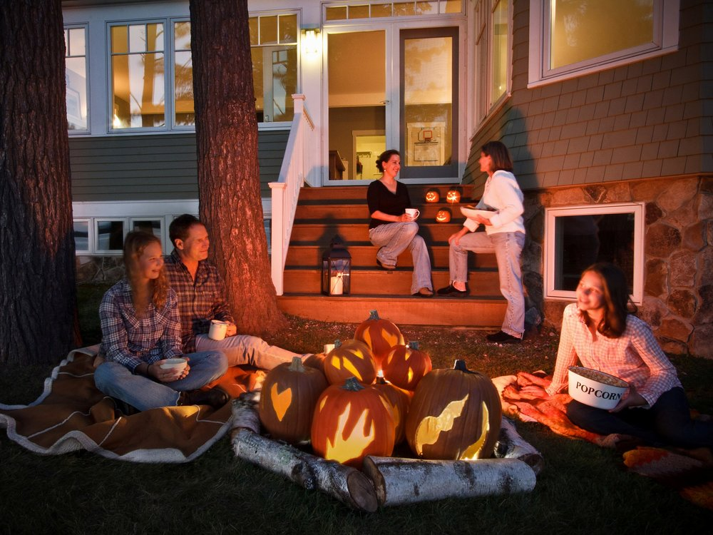 Let's get this party started...with a faux pumpkin bonfire! This way you can bring it out year after year! http://www.diynetwork.com/how-to/make-and-decorate/crafts/how-to-make-a-halloween-pumpkin-faux-bonfire