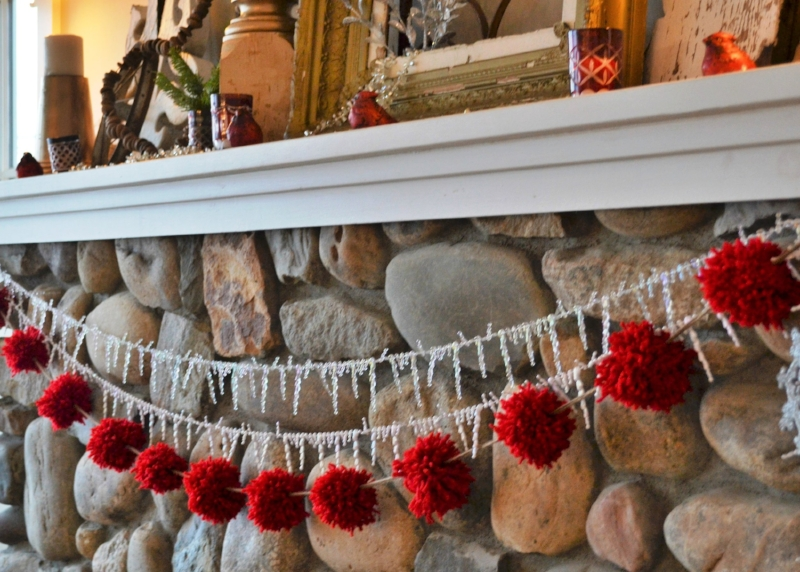 Pom Pom Garland -- how much fun was this to make with my mom and daughter.