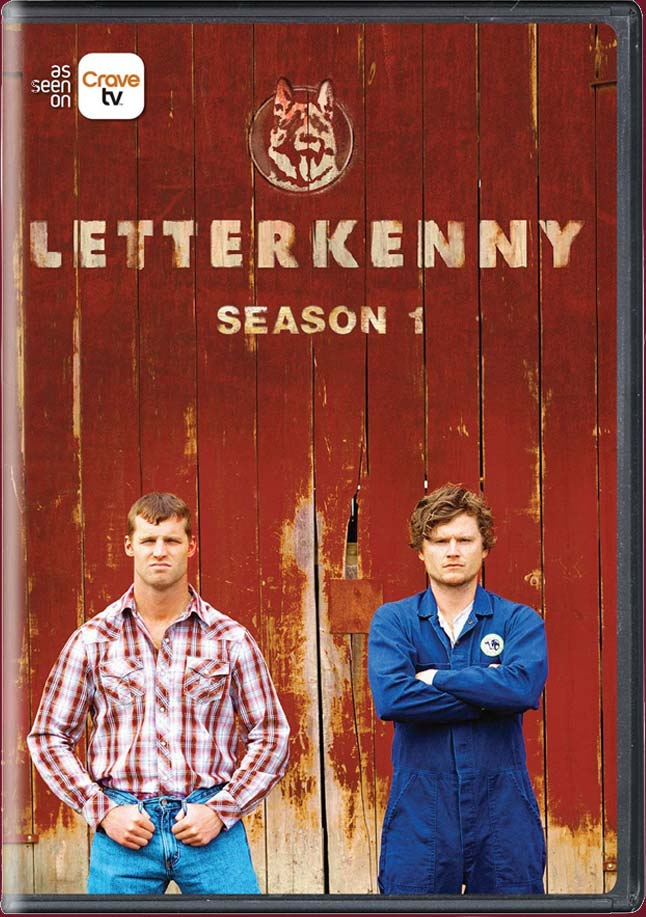 LETTERKENNY SEASON 1 DVD.  BUY IT NOW AT AMAZON  ( CAN     US )  GET IT ON   ITUNES   &   GOOLE PLAY