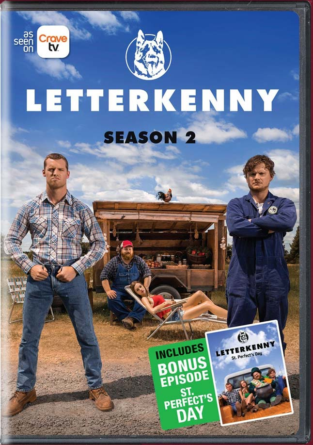LETTERKENNY SEASON 2 DVD.  BUY IT NOW AT AMAZON  ( CAN     US )  GET IT ON   ITUNES   &   GOOLE PLAY