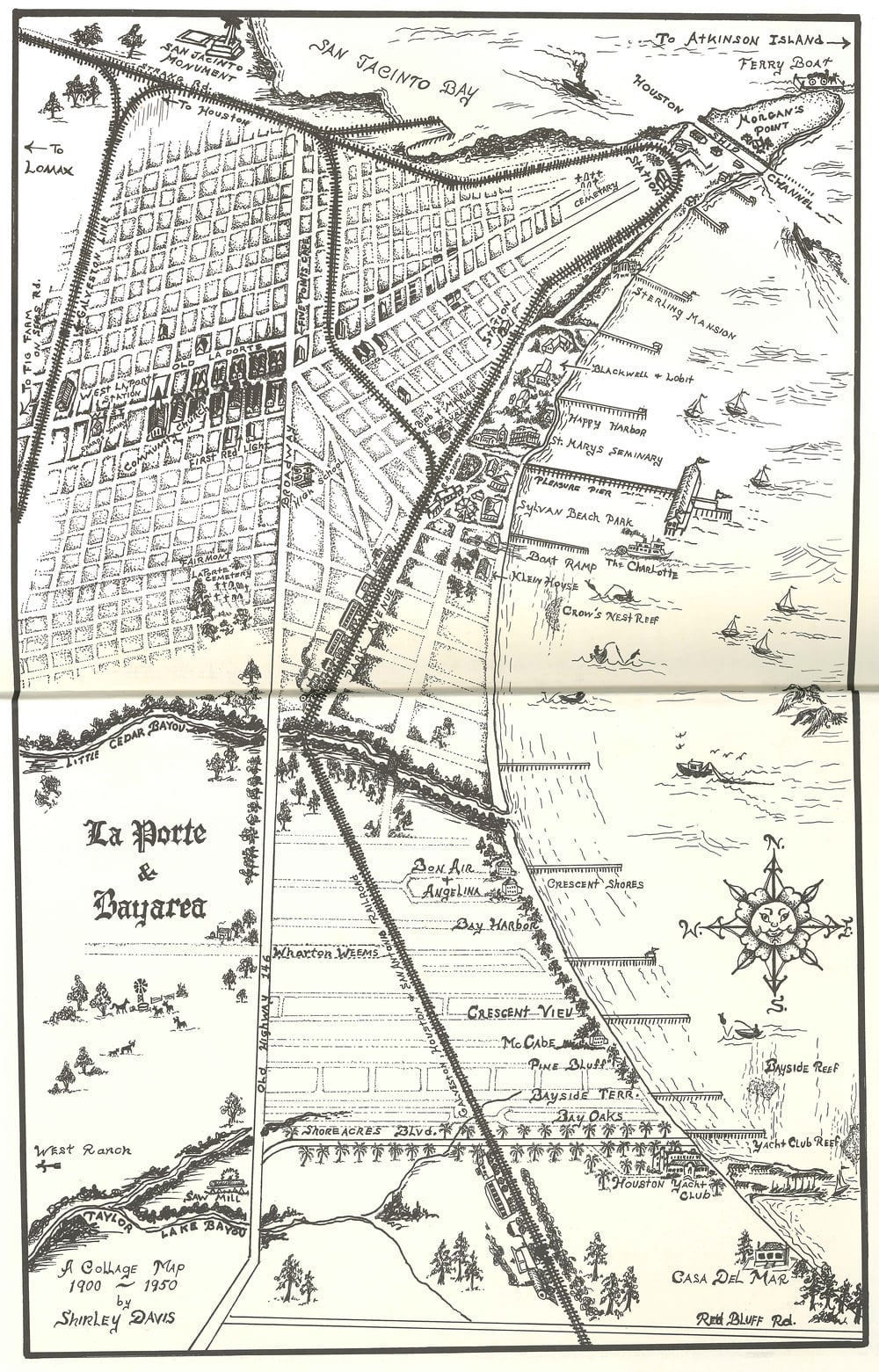 This map was hand drawn by Shirley Davis to represent La Porte from 1900-1950. Interesting to see the difference in where things are today!