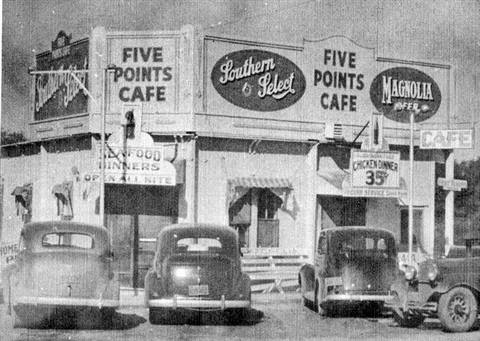 "The name ""Five Points"" references the intersection in La Porte at the end of Main Street that for years had 5 streets intersecting. In the 1920s and 1930s, as automobiles became the primary means of travel, 10,000 - 20,000 people would come to La Porte for the weekend through Five Points.  Five Points is the historical heart of La Porte!  In 1937, contracts were awarded for two traffic lights in La Porte - one was at Five Points and the other at Main and Second Street."