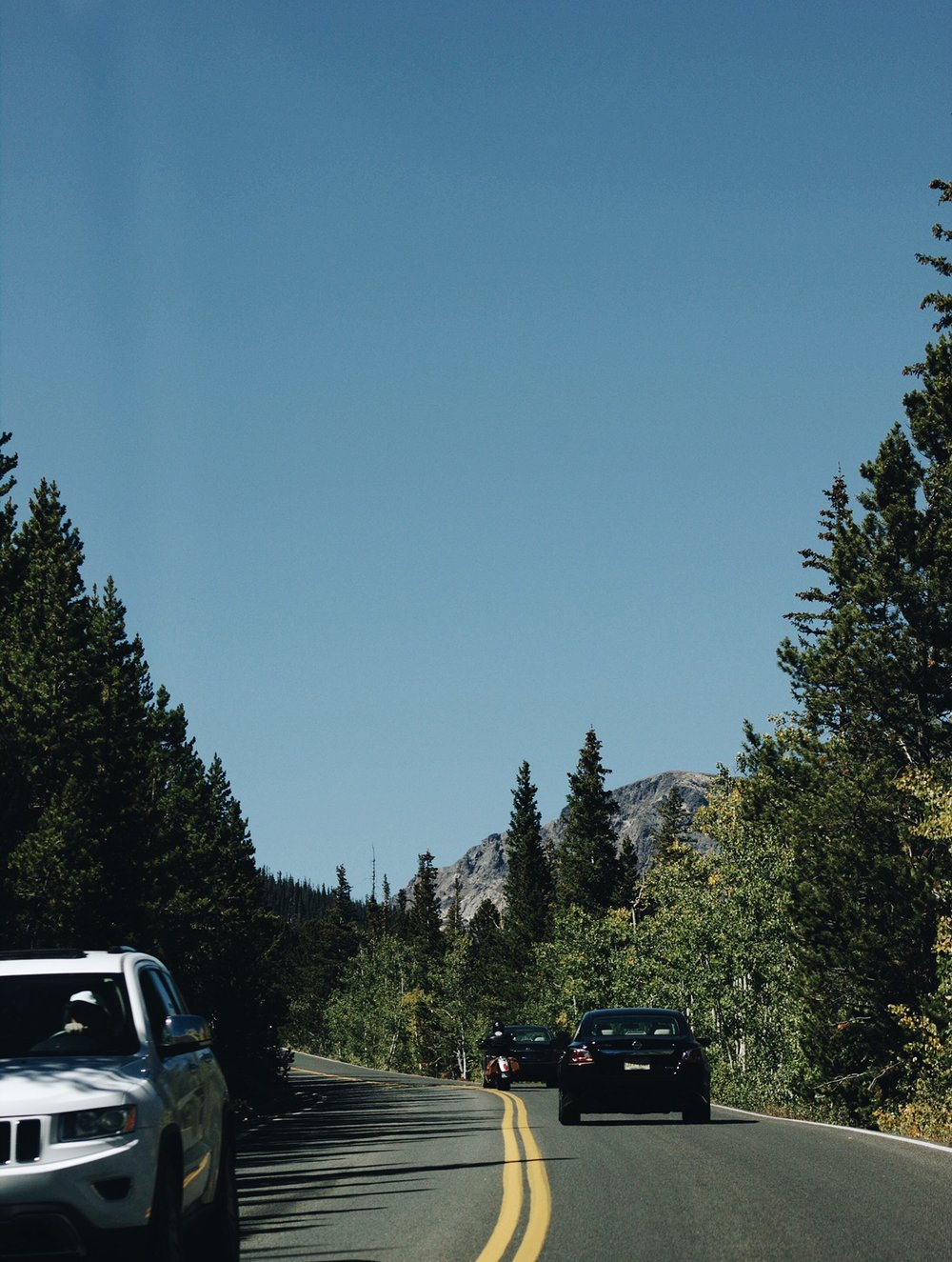 The beginning of our drive up the mountain!
