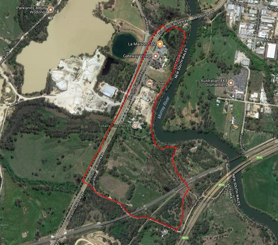 3km Dog Jog Map - A clockwise loop around the trail network at Gateway island. This event is suitable for both runners and walkers.