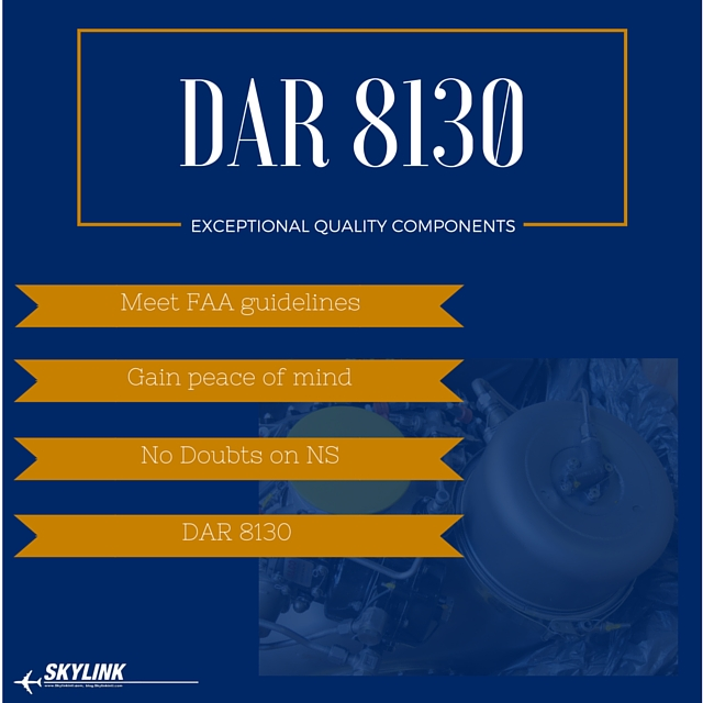 Get a DAR 8130 for Your NS Aircraft Components — Skylink