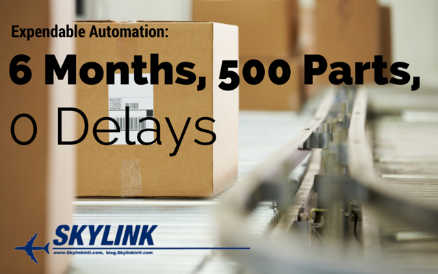 Expendable Automation: 6 months, 500 parts, 0 delays