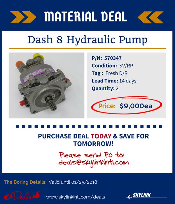 Dash 8 Hydraulic Pump: 570347