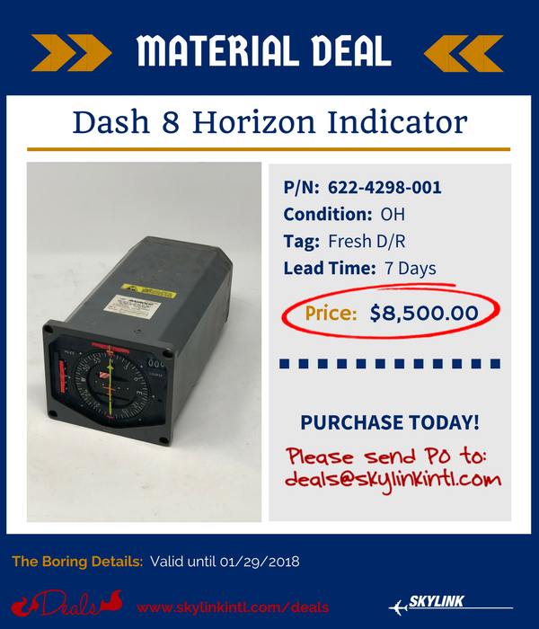 622-4298-001, Dash 8 Horizon Indicator