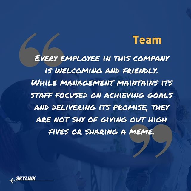 "We have a saying that at the end of the day, whether it's a client or a team member, we're all human.  And we're all different.  Putting every client or every team member in a stereotypical box is a failure by most organizations, and the larger they get, the worse this becomes (typically). At Skylink, it's apart of our ""never forget your wings"" mission to build a team-oriented approach.  And each and every day we strive to be better at this.  Why?  Because we want to become the best place to work, as a human. And also, we want to give our dedicated clients the best possible team to work with.  This matters. A lot!  Share, like or comment if you agree.  _____  #AircraftMaintenance #AircraftMechanic #AircraftPart #AircraftEngineer #FixingPlanes #AvGeek #AircraftMaintenanceEngineer #AircraftParts #AircraftMaintenanceTechnician #AviationLife #AviationGeek #Aviation #Engineer #Aircraft #Airplane #Airbus #Boeing #ATR #Bombardier #Cessna #Textron #C130"