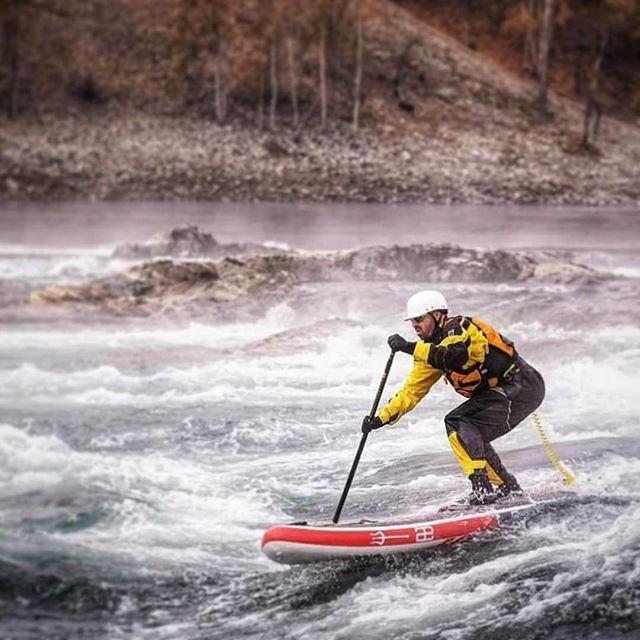 The Trident. Ripping the Columbia River. . . . #teamægir #ægirsup #isup #inflatablesup #designedincanada