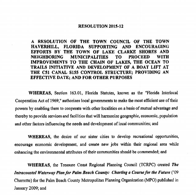 Haverhill Resolution 2015-12   (PDF)