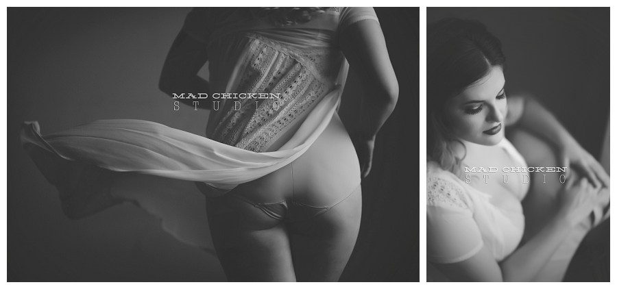 Boudoir session for Grace at duluth photography studio mad chicken studio