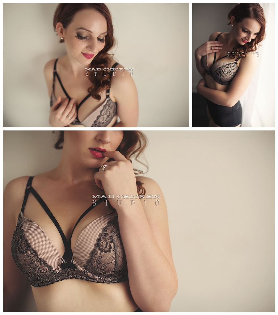Boudoir photography session for Molly at mad chicken studio in duluth, mn