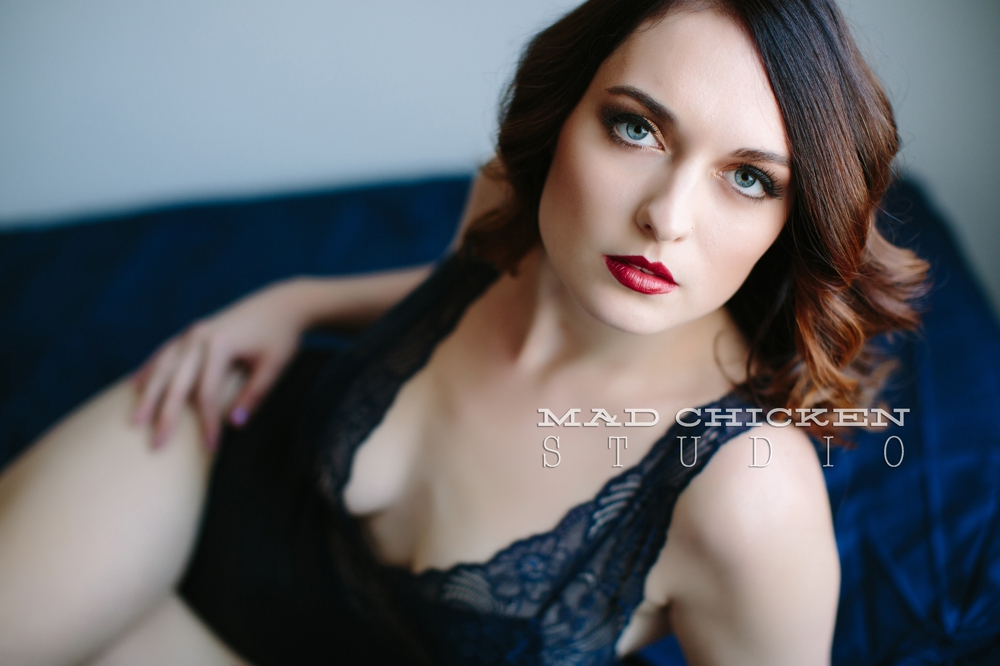 Alisha wearing asos lingerie for her Duluth Boudoir Photography session | photographed by jes hayes of Mad Chicken Studio