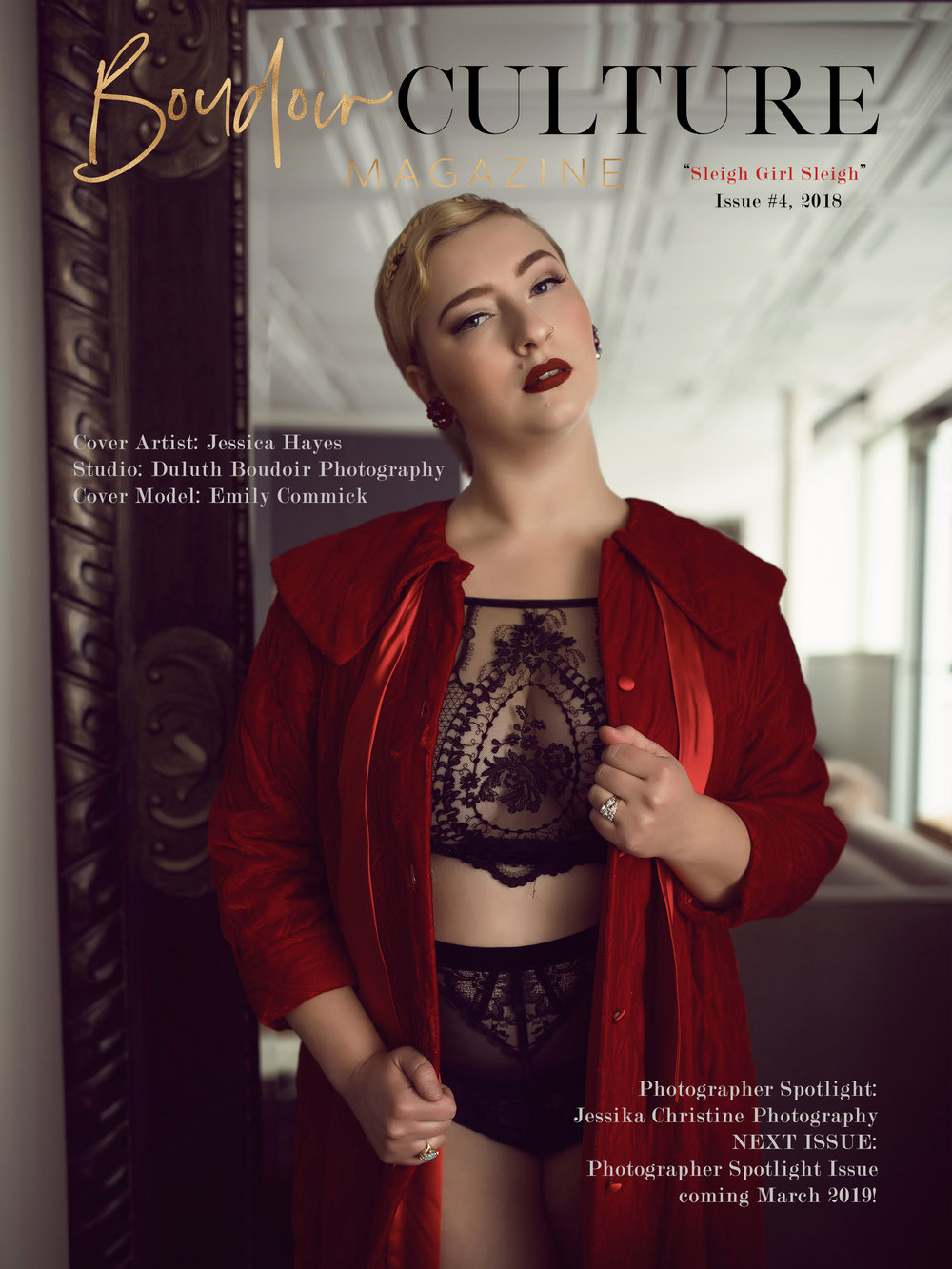 Boudoir Culture Magazine Cover of Duluth Boudoir Photography by Mad Chicken Studio