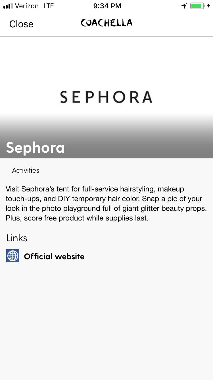 Sephora App Sponsor Page.png