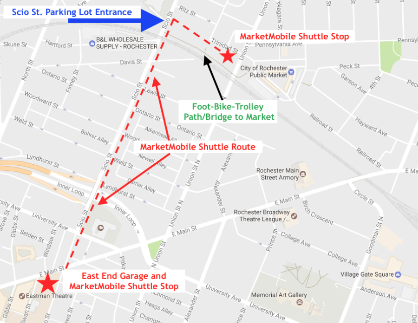 Map provided by City of Rochester Public Market