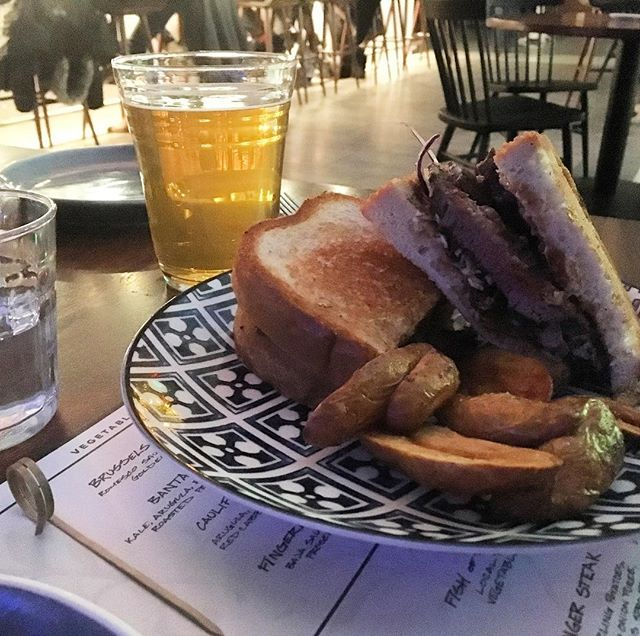 Have you tried the Katsu Sando at Bar Bantam yet? This steak sandwich (w/cabbage, mayo, Tonkatsu sauce & crispy potatoes) is the 💣 Thanks @seantothefuture! What are your favorite things to get @barbantam?? #rochesterny #roc #barbantam #thisisroc #visitroc #explorerochester